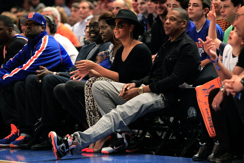 Beyonce Knowles and Jay-Z were courtside.