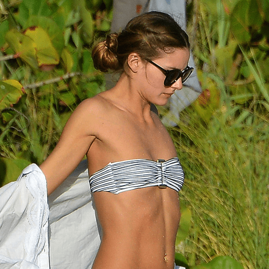 Olivia Palermo in a Bikini on the Beach