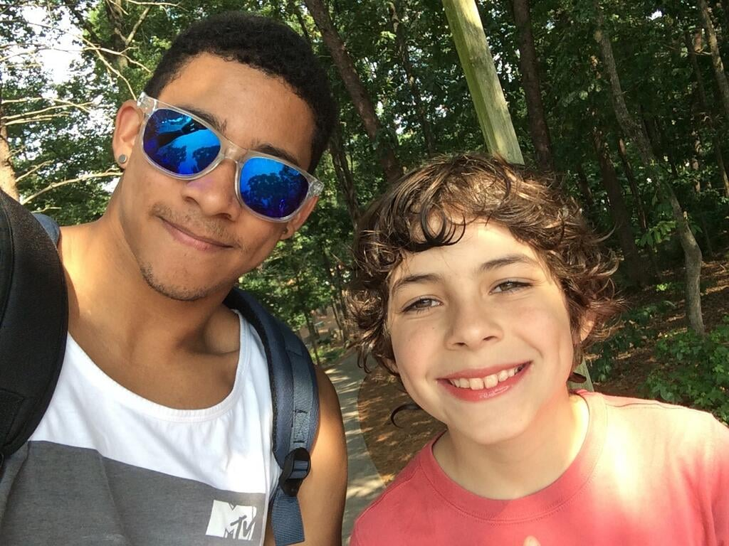 Keiynan Lonsdale (Uriah) and Emjay went cherry-picking in Georgia together.