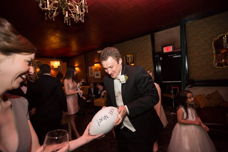 """You're Next"" Football Garter Toss"