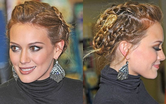 Pictures of Hilary Duff's New Ombre Hair Colour Braided