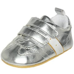 Supersize This: Silver Crib Shoes
