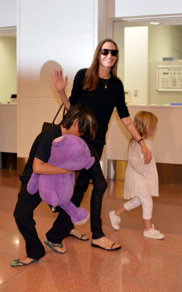 Brad Pitt Takes Out the Twins After a Glamorous Night With Angie