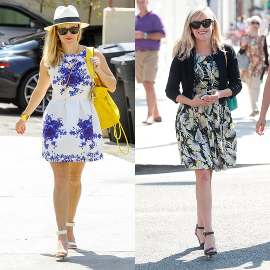 Reese Witherspoon's Floral Dress Street Style