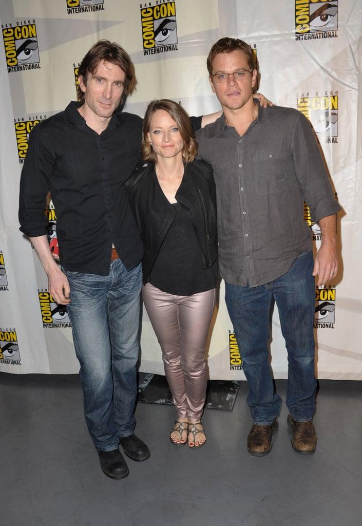 Sharlto Copley, Jodie Foster and Matt Damon at Comic-Con.