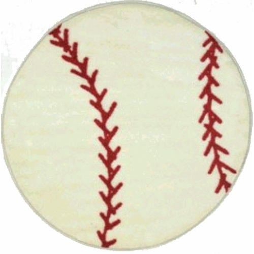 Set this round baseball rug ($47) on your child's floor for a fun accent he'll love.