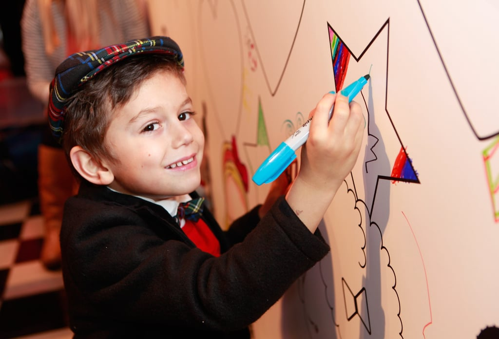 Kingston Rossdale let his artistic side show.