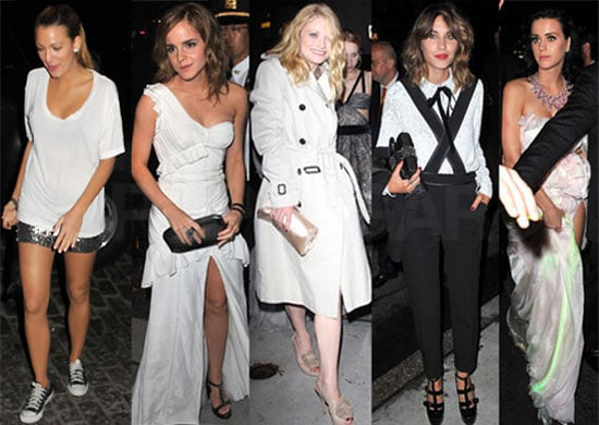 Pictures from the 2010 Met Gala Afterparties Including Jude Law, Sienna Miller, Emilie De Ravin, Emma Watson, Alexa Chung