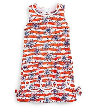 A classic Lilly Pulitzer shift ($74) is a most appropriate way to dress for the holiday.