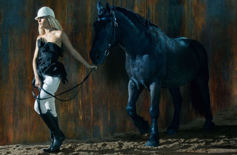 Equestrian-chic takes center stage — as does Dree Hemingway — in Ermanno Scervino's Fall 2012 ads.