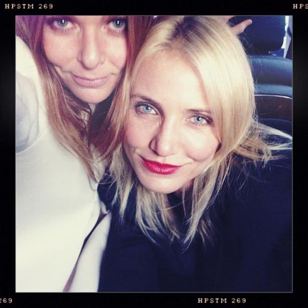 Cameron Diaz partied with Stella McCartney at her Spring 2014 presentation. Source: Instagram user stellamccartney