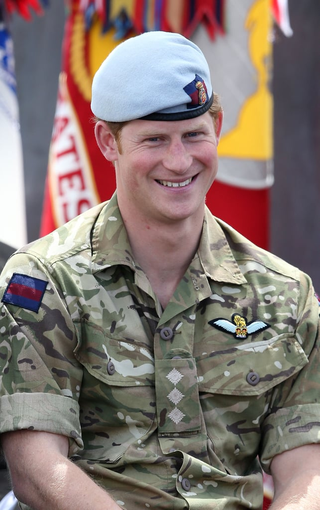 Prince Harry smiled while attending the torch-lighting ceremony for the Warrior Games in Colorado Springs, CO, on Saturday.