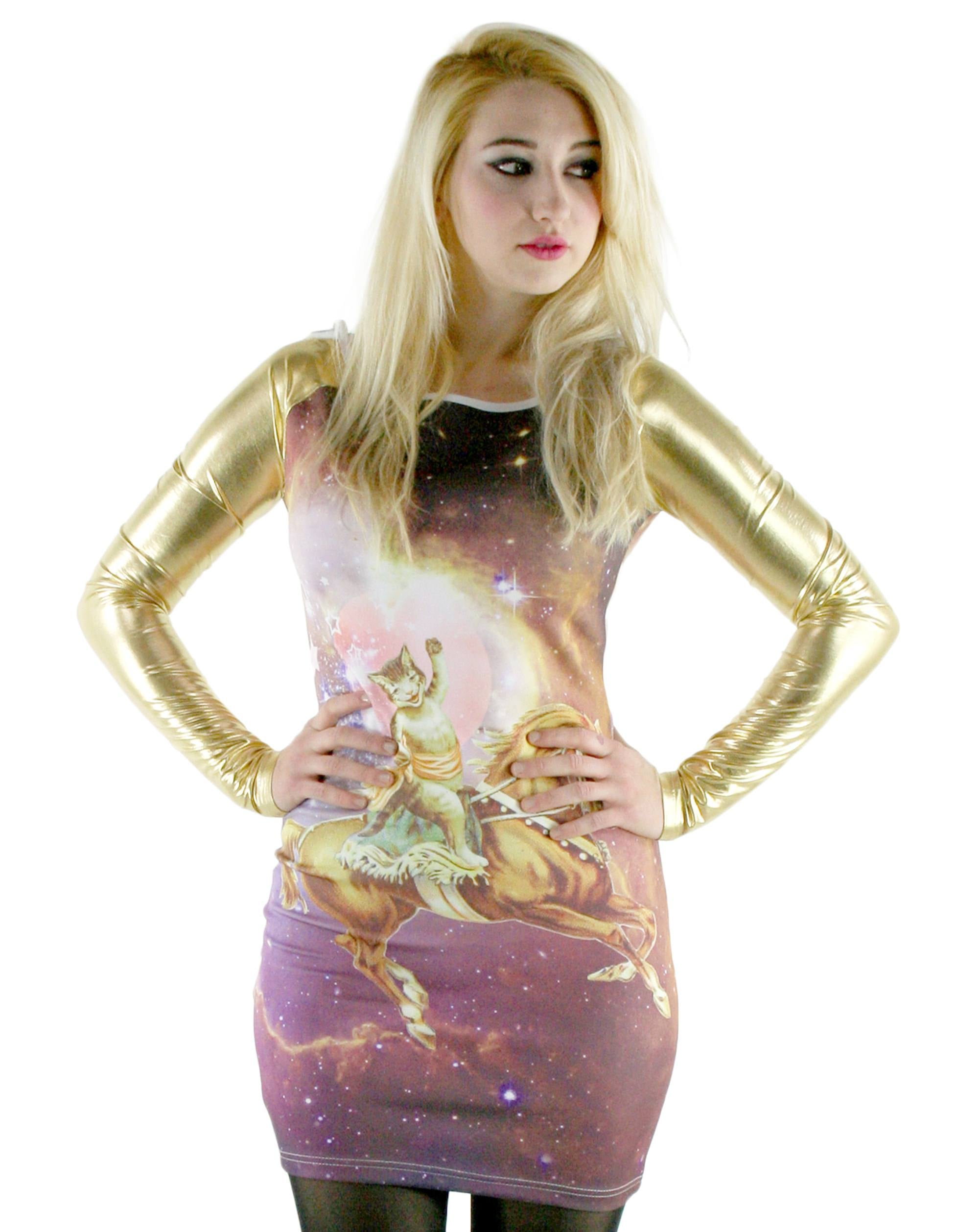 Doesn't even need to be a special occasion for you to show off this galaxy cat dress ($23, originally $47).