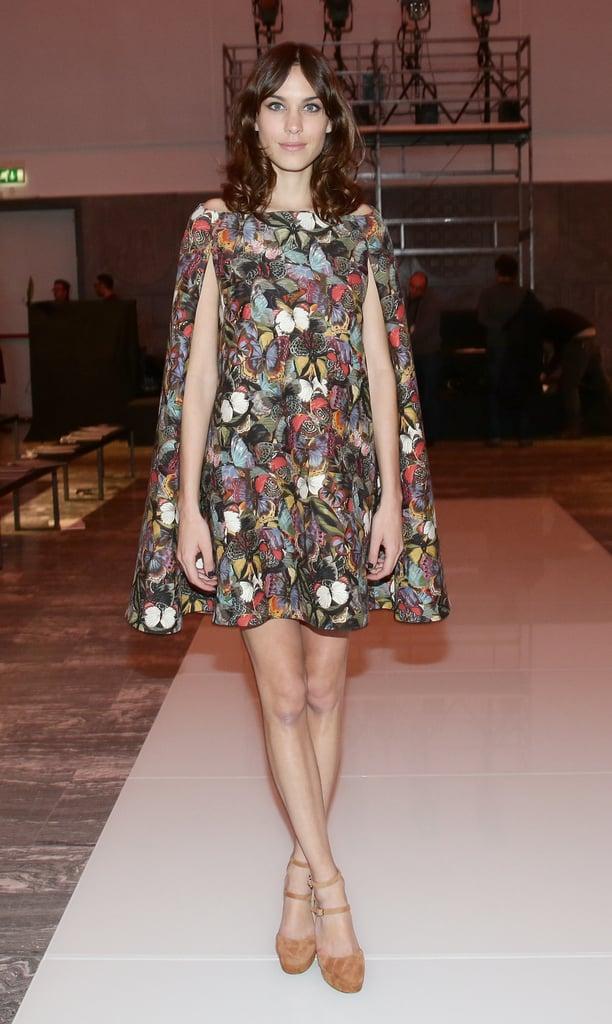 Alexa Chung at Fall 2014 Milan Fashion Week