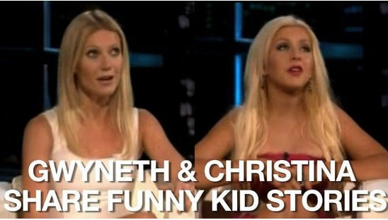 Video of Gwyneth Paltrow Talking About Her Kids' Accents and Christina Aguilera on Singing to Max