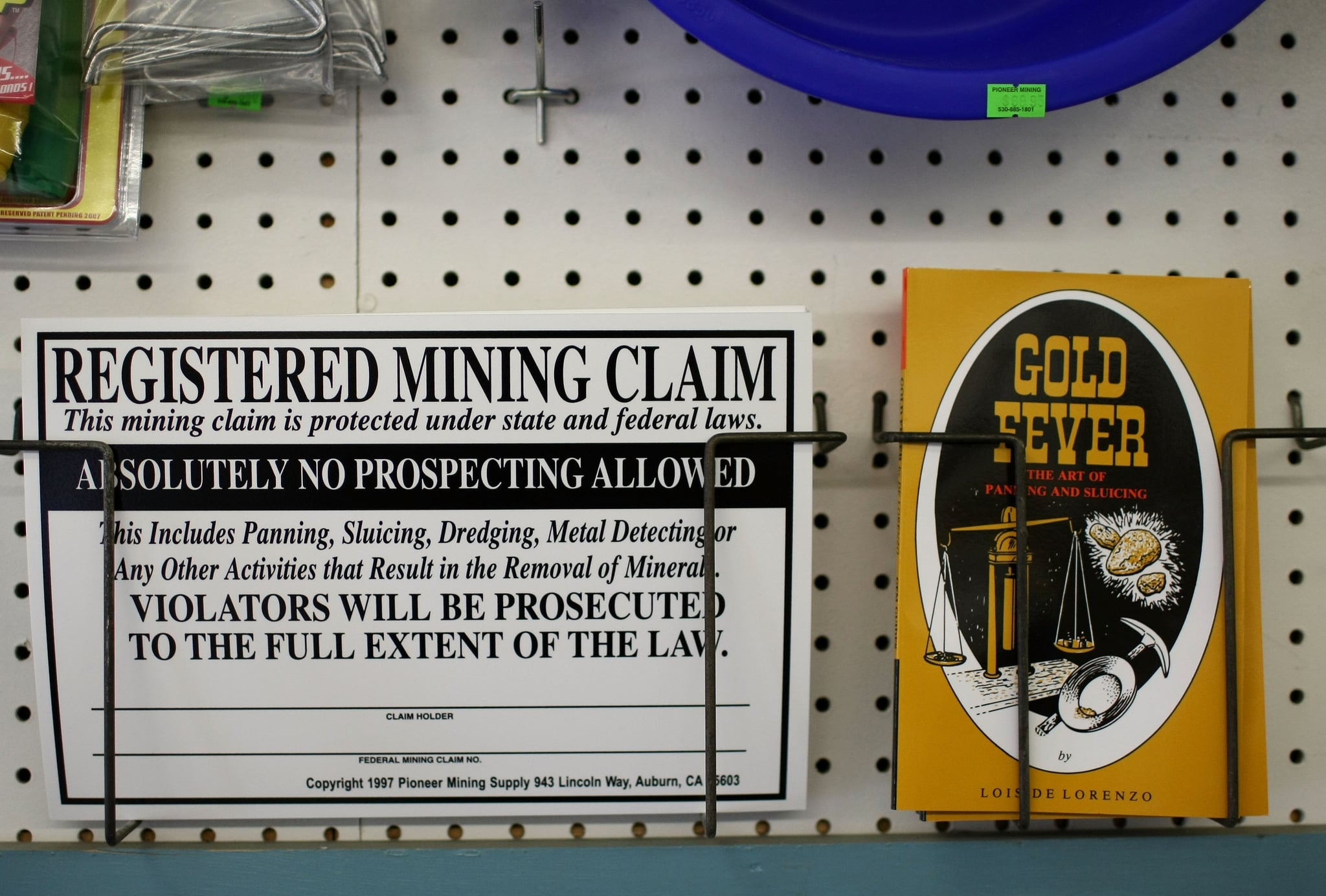 You can pan, sluice, dredge,use a metal detector for gold. Just register whatever you find!