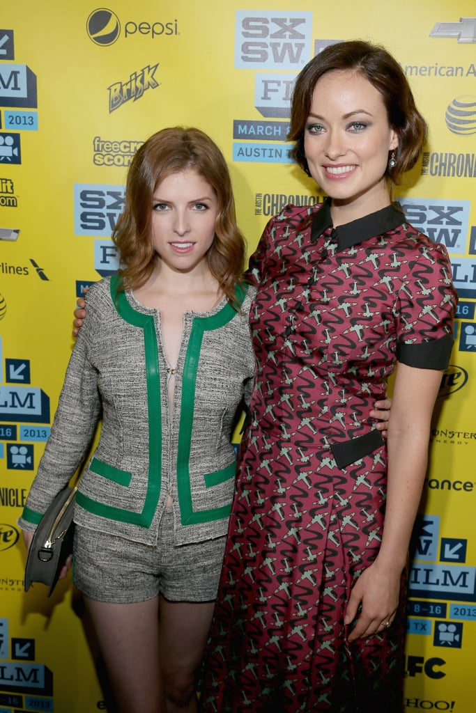 Anna Kendrick and co-star Olivia Wilde linked up for their premiere of Drinking Buddies at SXSW.