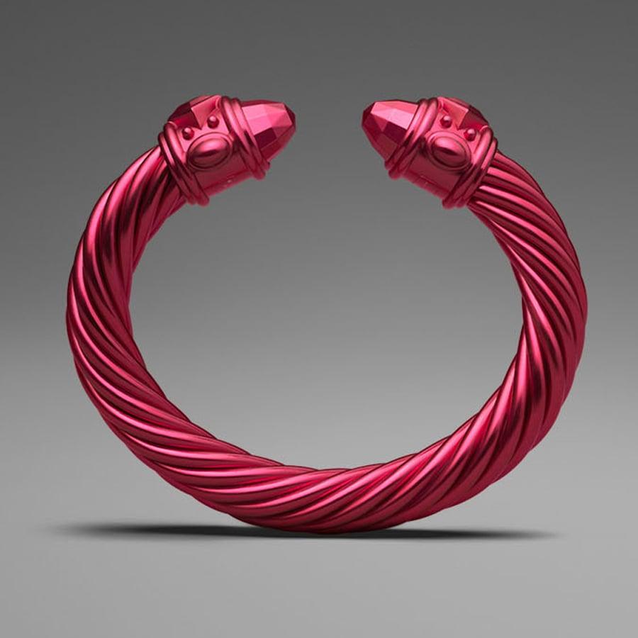 David Yurman Red Aluminum Cable Bracelet