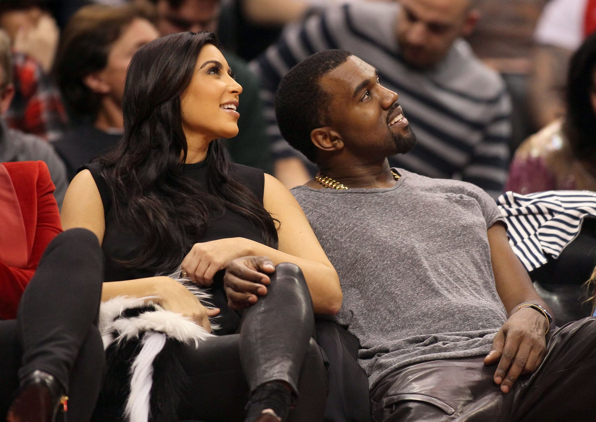 The couple was cuddled up courtside at a December 2012 Clippers game in LA.