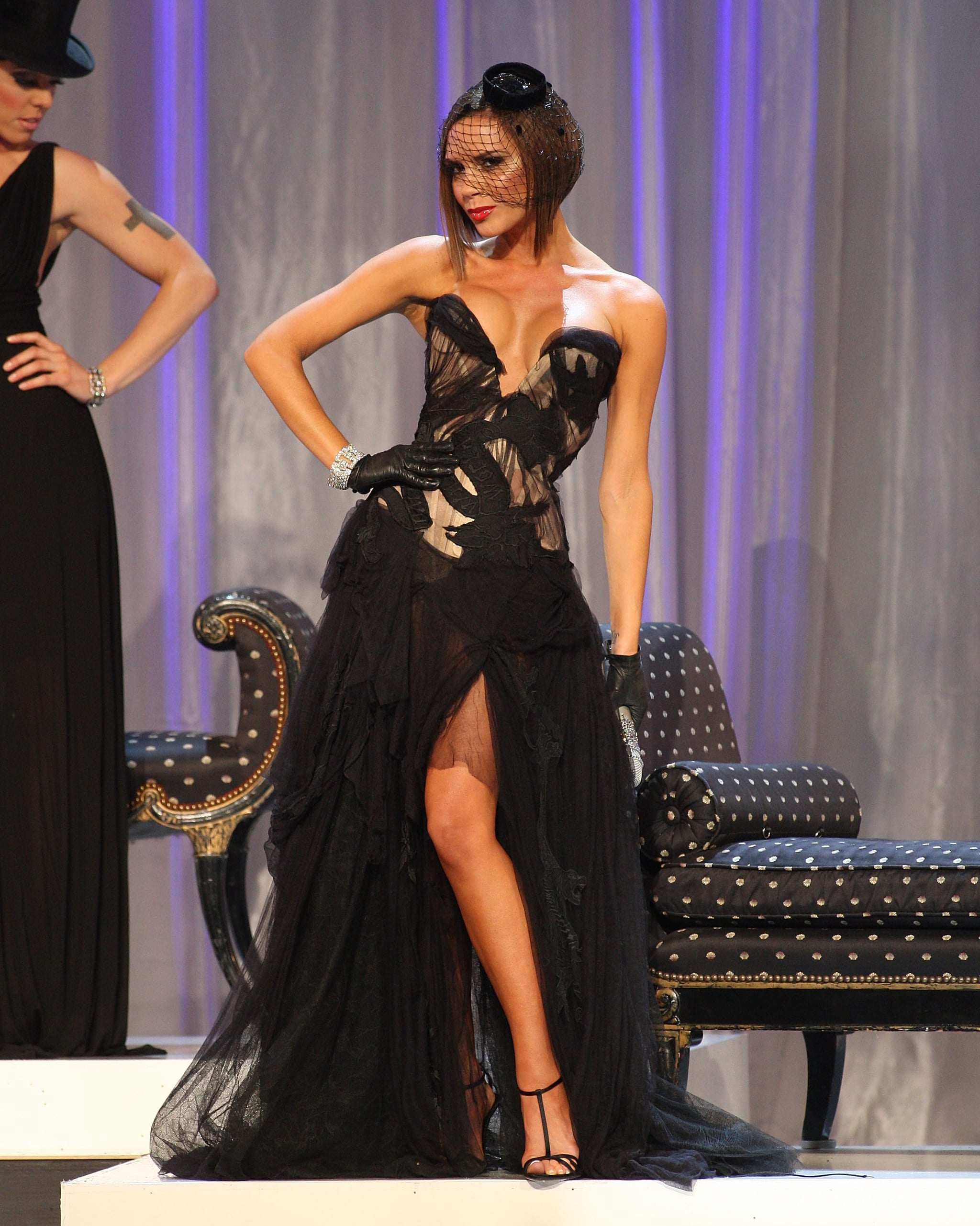 Victoria Beckham looked right at home on stage while performing with the Spice Girls during the 2007 show.