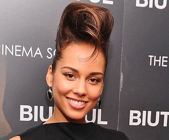 Pictures of Alicia Keys's New Beehive Hairstyle