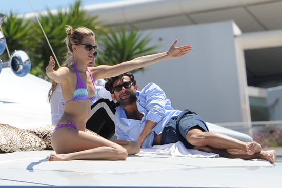 Karolina Kurkova Lounges in a Bikini During a Break From the Cannes Action