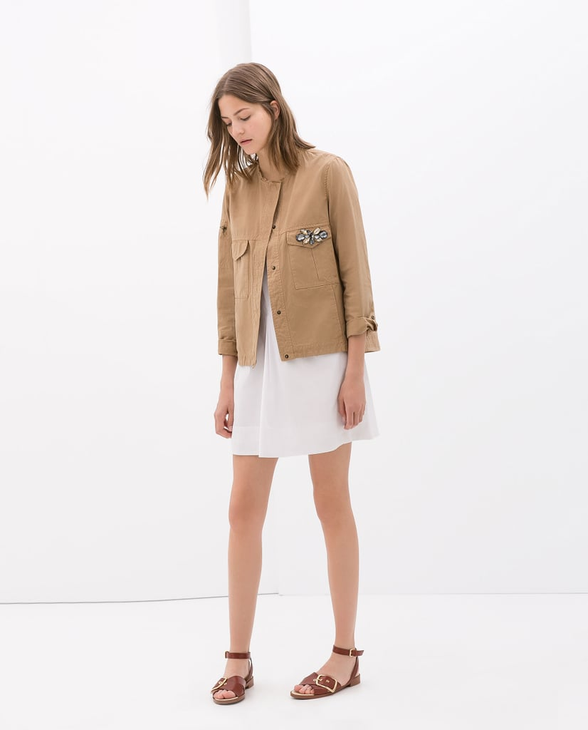 Zara Jacket With Jewel Appliqué