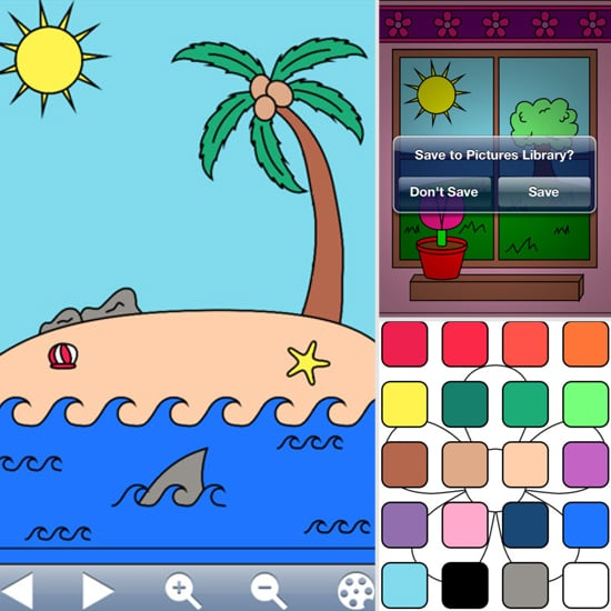 Skip the mess of markers and crayons by choosing My Coloring Book Free. With 85 hand-drawn pictures to color, your kids are sure to stay entertained.