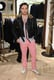 Ed Westwick wore pink pants.