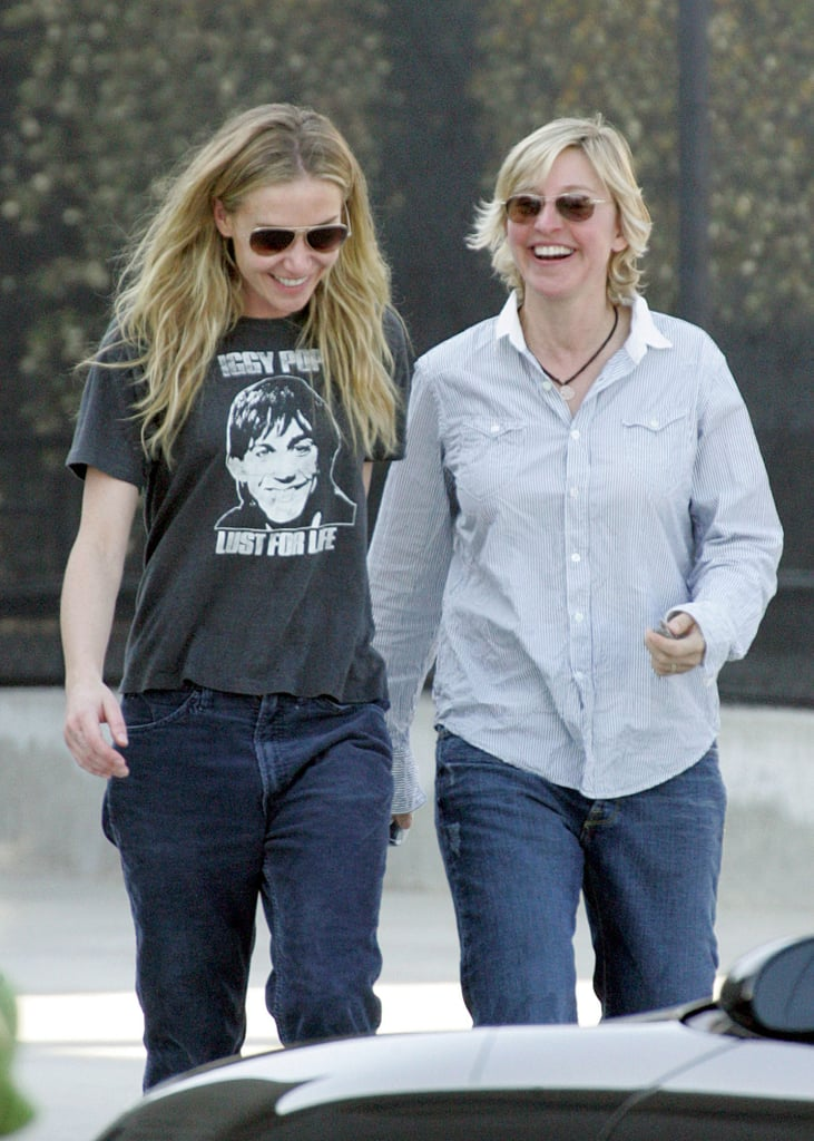 Ellen and Portia were all smiles during a February 2006 outing in LA.