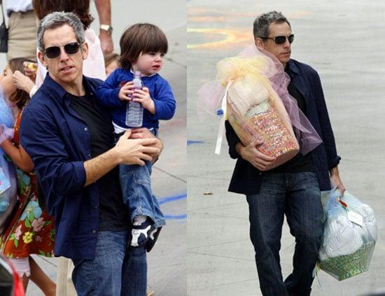 Ben Stiller Gets Into Daddy Mode