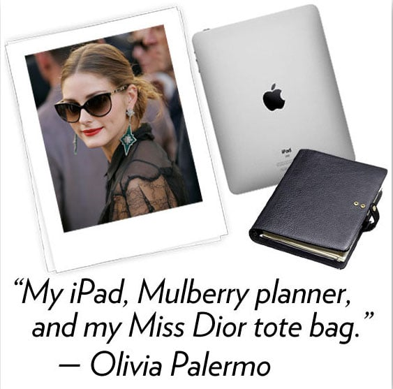 """Olivia Palermo, co-founder and executive editor of OliviaPalermo.com Three words to describe your style: Polished, colorful, accessorized. What's your hidden talent? I'm not sure I have a hidden talent, but Johannes [Huebl] and I really enjoy a good tennis game, or a solid run on the slopes What are your three fashion essentials? My iPad, Mulberry planner — I love crossing off the """"to-do list"""" — and my Miss Dior blue tote bag. What's your favorite Winter comfort food? I really enjoy the different seasons of vegetables. In the Winter, I have a soft spot for pumpkin; we are fairly healthy in our house.  How are you planning to de-stress and relax after NYFW? The key is to try and stay rested, drink water and tea. It's always nice to get a mani, pedi, and just relax."""