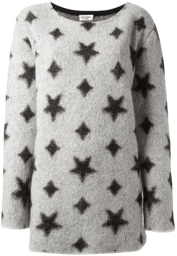 Saint Laurent star print sweater
