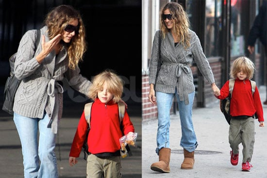 Photos of Sarah Jessica Parker and James Wilkie Broderick in NYC 2008-10-08 14:30:06
