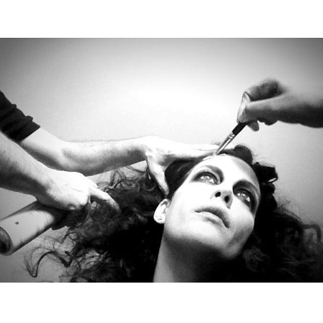 Liv Tyler got her detailed zombie makeup done. Source: Instagram user misslivalittle