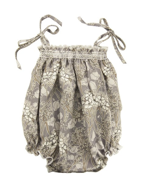 A muted print romper ($58) with tie shoulders and smocking is an easy one-piece sundress alternative.