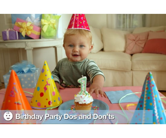 Birthday Party Dos and Don'ts