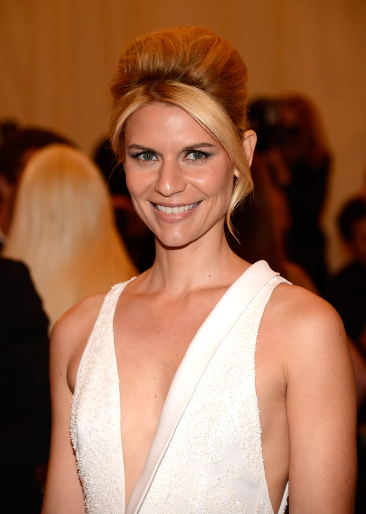 Claire Danes smiled at the Met Gala wearing a J. Mendel gown.