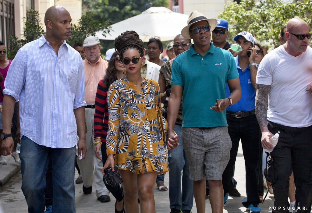Beyoncé Knowles and Jay-Z took a tour through Old Havana for their fifth anniversary.