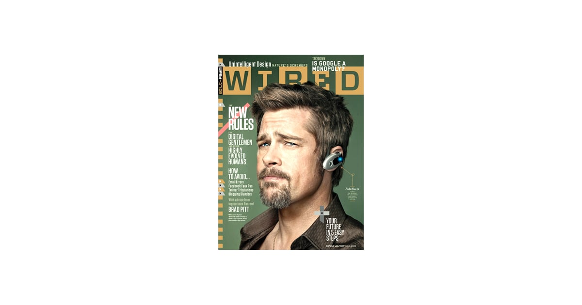 Brad Pitt Talking Tech in the Latest Issue of Wired ...