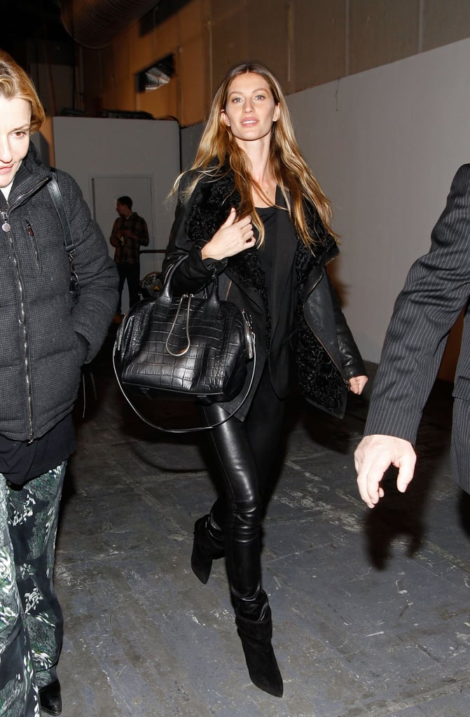 Gisele Bündchen pranced backstage at Alexander Wang in February 2012.