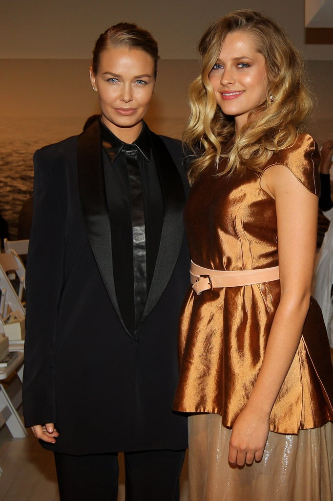 Lara Bingle and Teresa Palmer met up at Ellery in 2011.