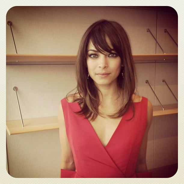 Beauty and the Beast star Kristin Kreuk stopped by the Marie Claire offices. Source: Instagram user marieclaire