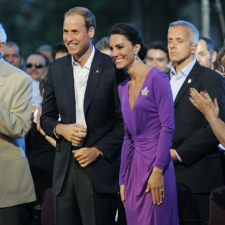 Kate Middleton Dons Purple Issa to Wrap Up Canada Day With Prince William