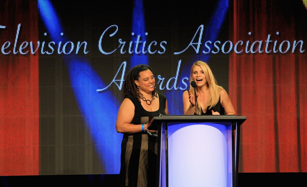 Claire Danes took the stage at the Television Critics Association Awards in LA.