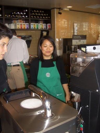 Photos of YumSugar Playing Guest Barista at Starbucks