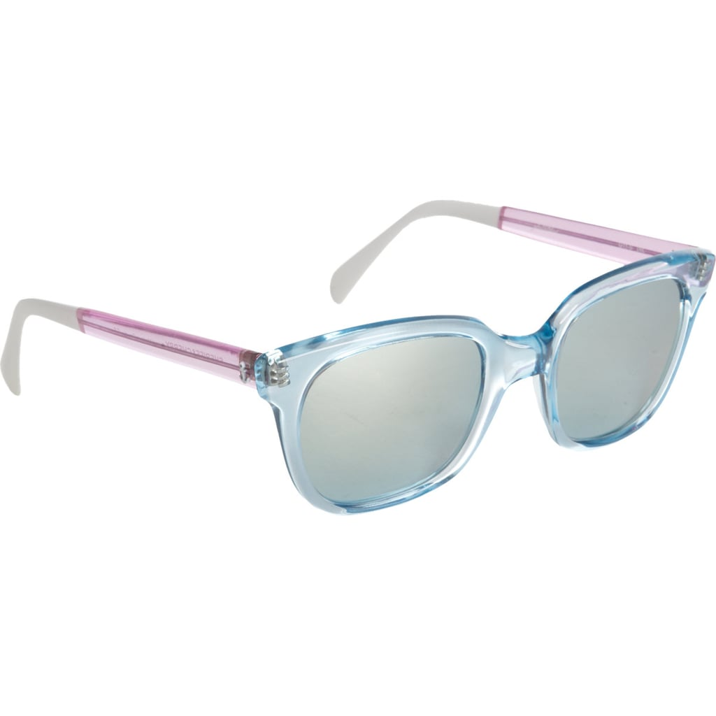 If sunglasses are a must, then why not have a little fun with them? These tritone transparent sunglasses from Banner Sheriff & Cherry ($115) are a happy reminder that Summer is all about keeping it light and fun and that candy colors are totally acceptable.  — MC