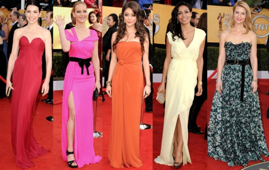 Celebrities Wearing Color on the Red Carpet at the Screen Actors Guild Awards