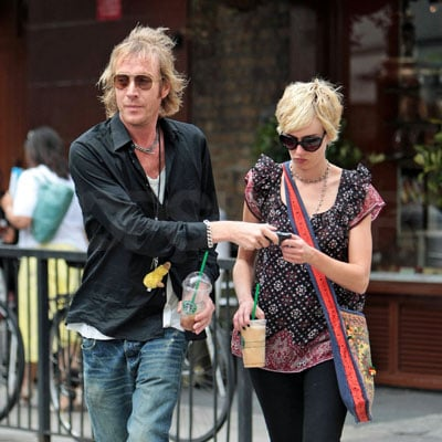 Rhys Ifans and Kimberly Stewart in London