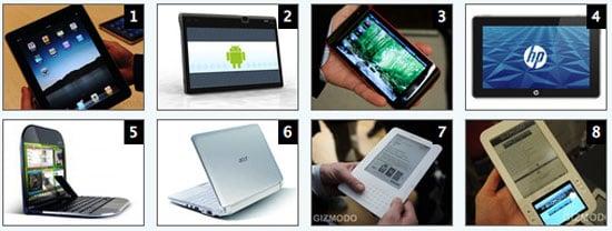 Main Alternatives to the iPad
